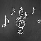 Musiknoten auf Tafel 3 von AnnArtshock