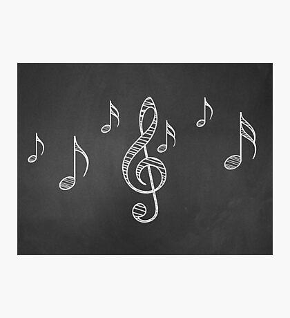 Musiknoten auf Tafel 3 Fotodruck