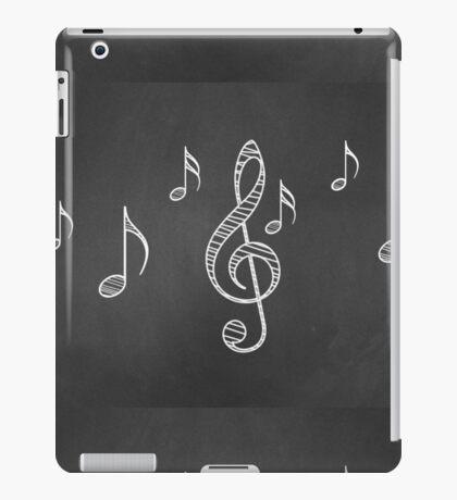 Musiknoten auf Tafel 3 iPad-Hülle & Klebefolie