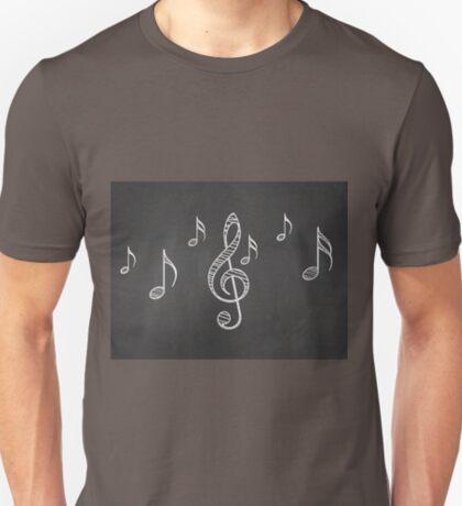 Musiknoten auf Tafel 3 T-Shirt