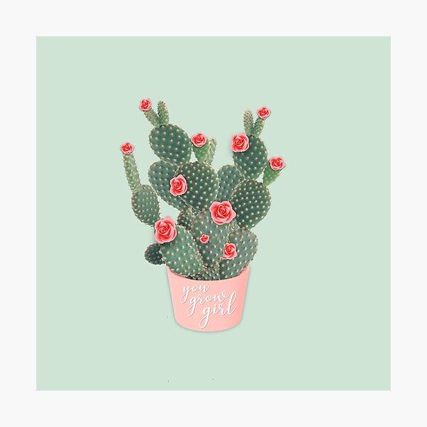 You grow girl Rose Cactus Photographic Print