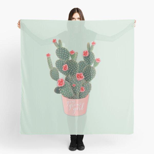 You grow girl Rose Cactus Scarf