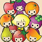 Fruit Kokeshi Dolls by Bubble Doll