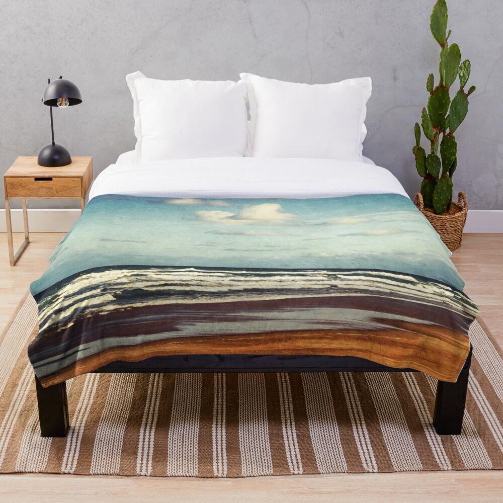 Beach - a photo painting Throw Blanket