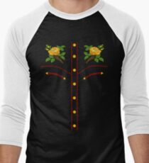 Texas Rose Western Style T-Shirt Men's Baseball ¾ T-Shirt