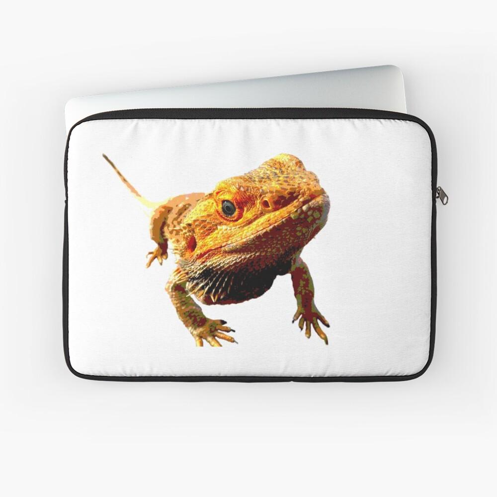 Bearded Dragon Closeup Laptop Sleeve