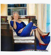Bill Clinton in a Blue Dress Poster