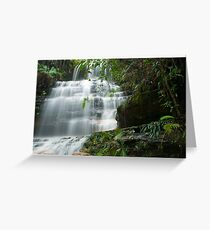 Cascading Water at Junction Falls, NSW Australia Greeting Card