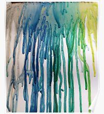 Póster turquoise rain