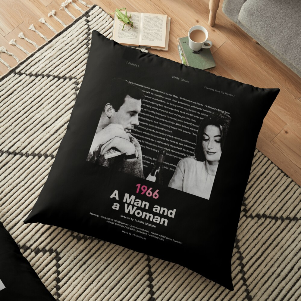 A Man and a Woman Floor Pillow