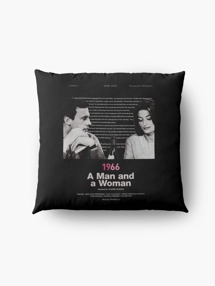 Alternate view of A Man and a Woman Floor Pillow