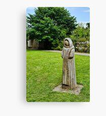 Cistercian Monk Sculpture Canvas Print