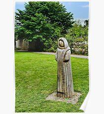Cistercian Monk Sculpture Poster
