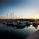 Sunset on the Marina by Daniel Peut