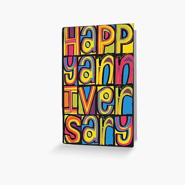 Happy Anniversary 'Happy Mondays' Inspired Design Greeting Card