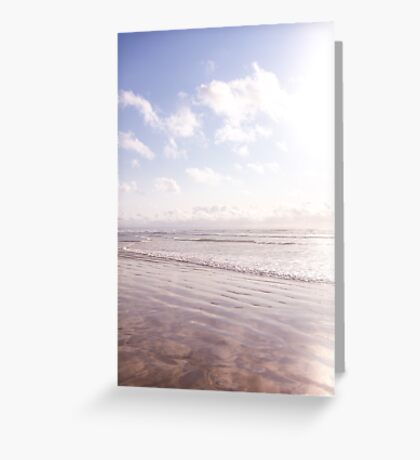 Magical light and gentle waves Greeting Card