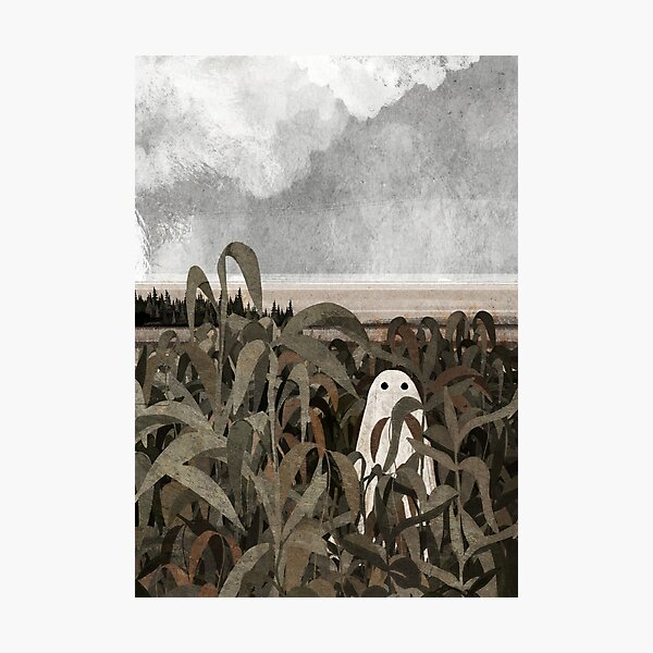 There's a Ghost in the cornfield again... Photographic Print