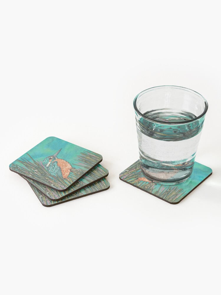 Alternate view of Kingfisher Coasters (Set of 4)
