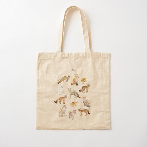 Foxes Cotton Tote Bag