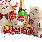 Teddy Bears White  Christmas Party by pogomcl