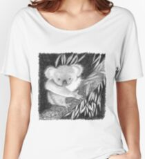 Koala at Night Pencil Sketch Women's Relaxed Fit T-Shirt