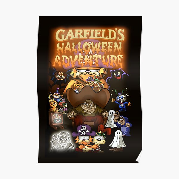 Garfields Halloween Adventure Posters Redbubble