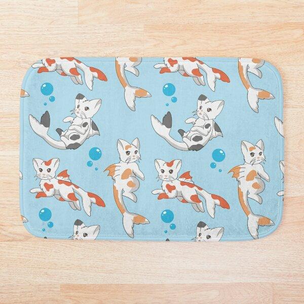 Catfish Pattern Blue Bath Mat