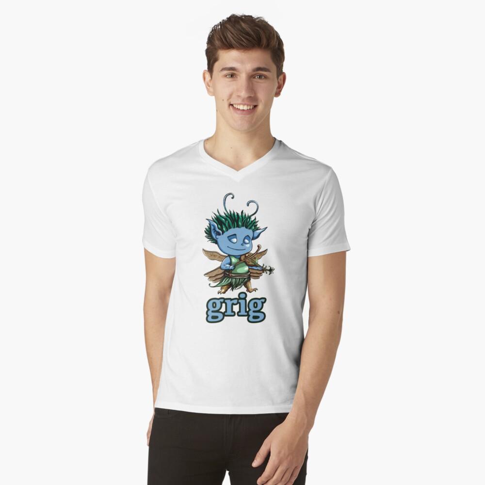 Grig Mascot V-Neck T-Shirt