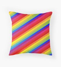 Colorful horizontal stripes, geometric pattern, colorful pattern Floor Pillow