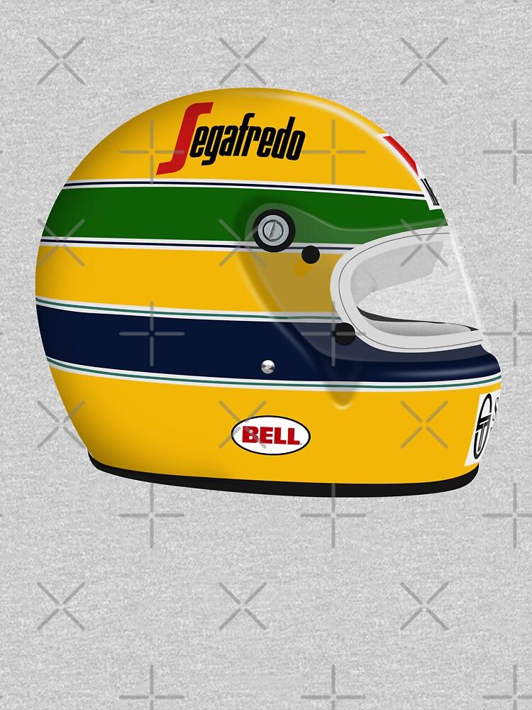 Ayrton Senna - Monaco 1984 Helmet with No text by JageOwen