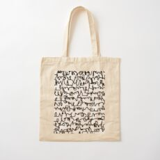 Graphic Scribble Cotton Tote Bag