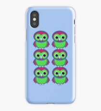 Colorful Owls .. tee shirt iPhone Case