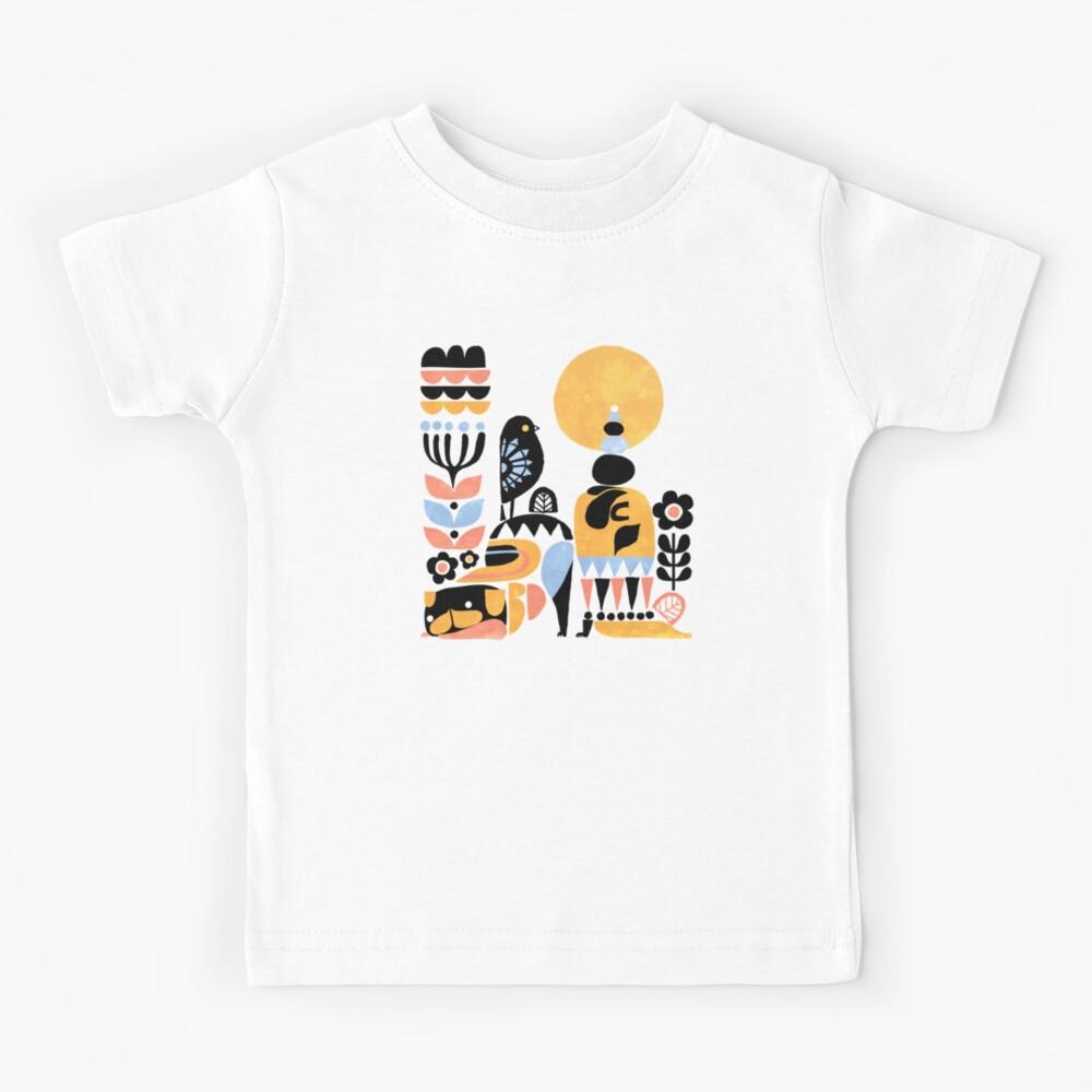Scandinavian Pug Yoga Kids T-Shirt