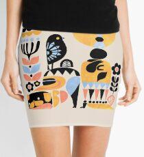 Scandinavian Pug Yoga Mini Skirt