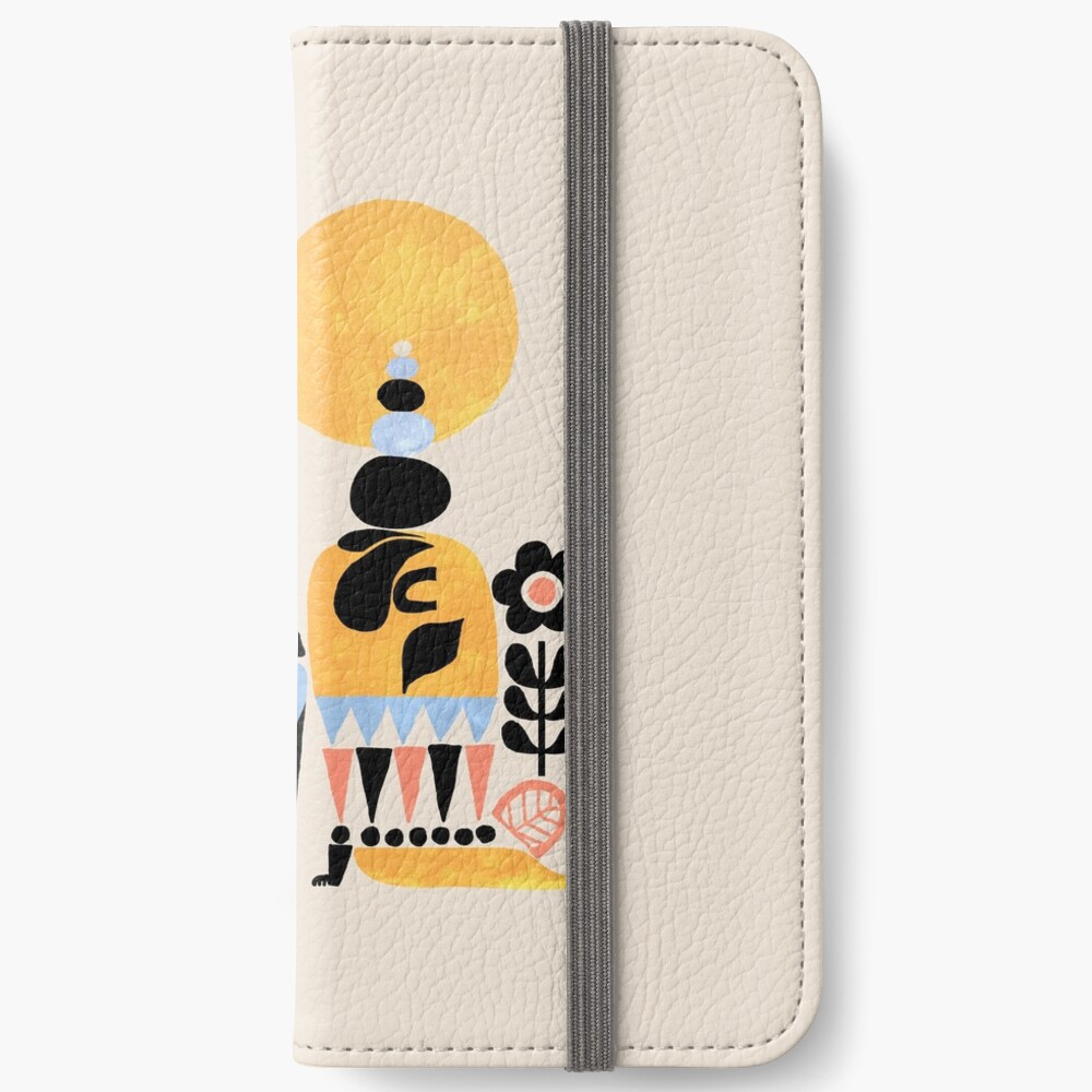 Scandinavian Pug Yoga iPhone Wallet