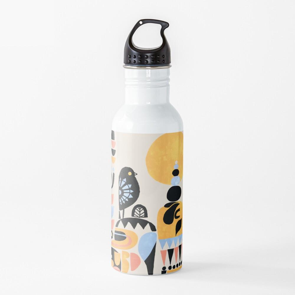 Scandinavian Pug Yoga Water Bottle