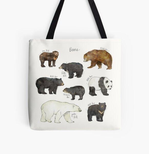 Bears All Over Print Tote Bag