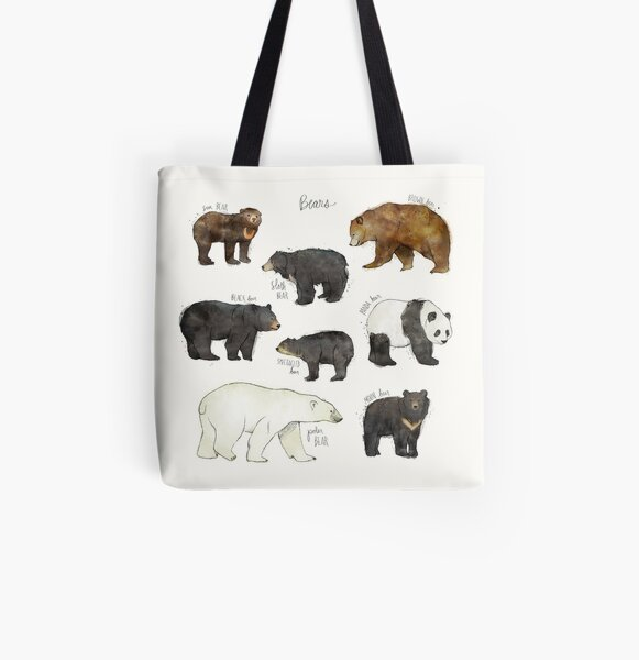 Bears All Over Print Tote Bag