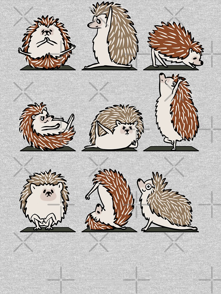 Hedgehog Yoga by Huebucket