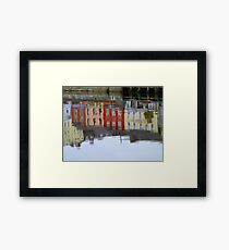 Colourful Water Reflection Framed Print