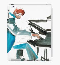 Pianist Musician Expressive Drawing iPad Case/Skin