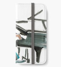 Pianist Musician Expressive Drawing iPhone Wallet/Case/Skin