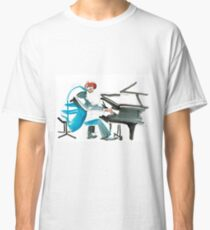 Pianist Musician Expressive Drawing Classic T-Shirt