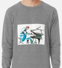 Pianist Musician Expressive Drawing Lightweight Sweatshirt