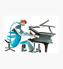 Pianist Musician Expressive Drawing Photographic Print