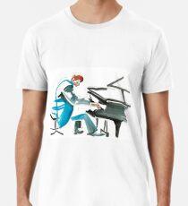 Pianist Musician Expressive Drawing Premium T-Shirt