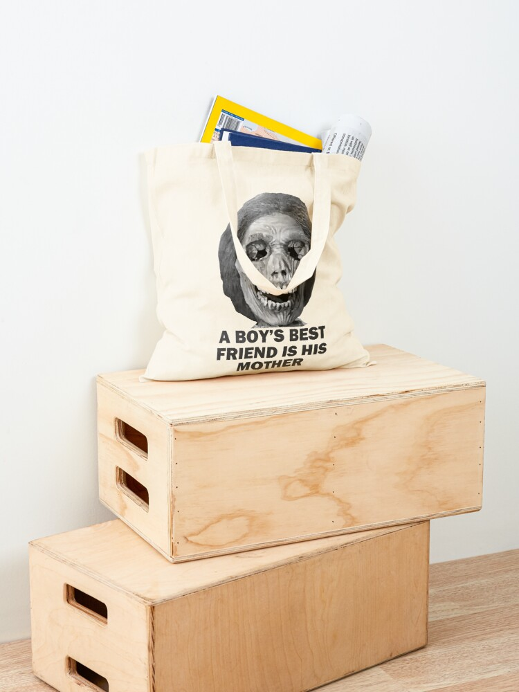 Alternate view of Psycho Mother Movie Quote Tote Bag