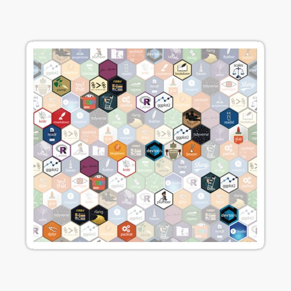 R hex fabric (small hexes) Sticker