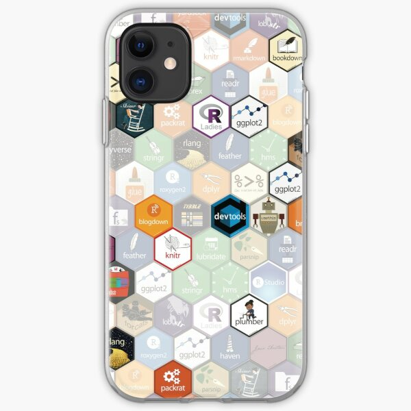 R hex fabric (small hexes) iPhone Soft Case