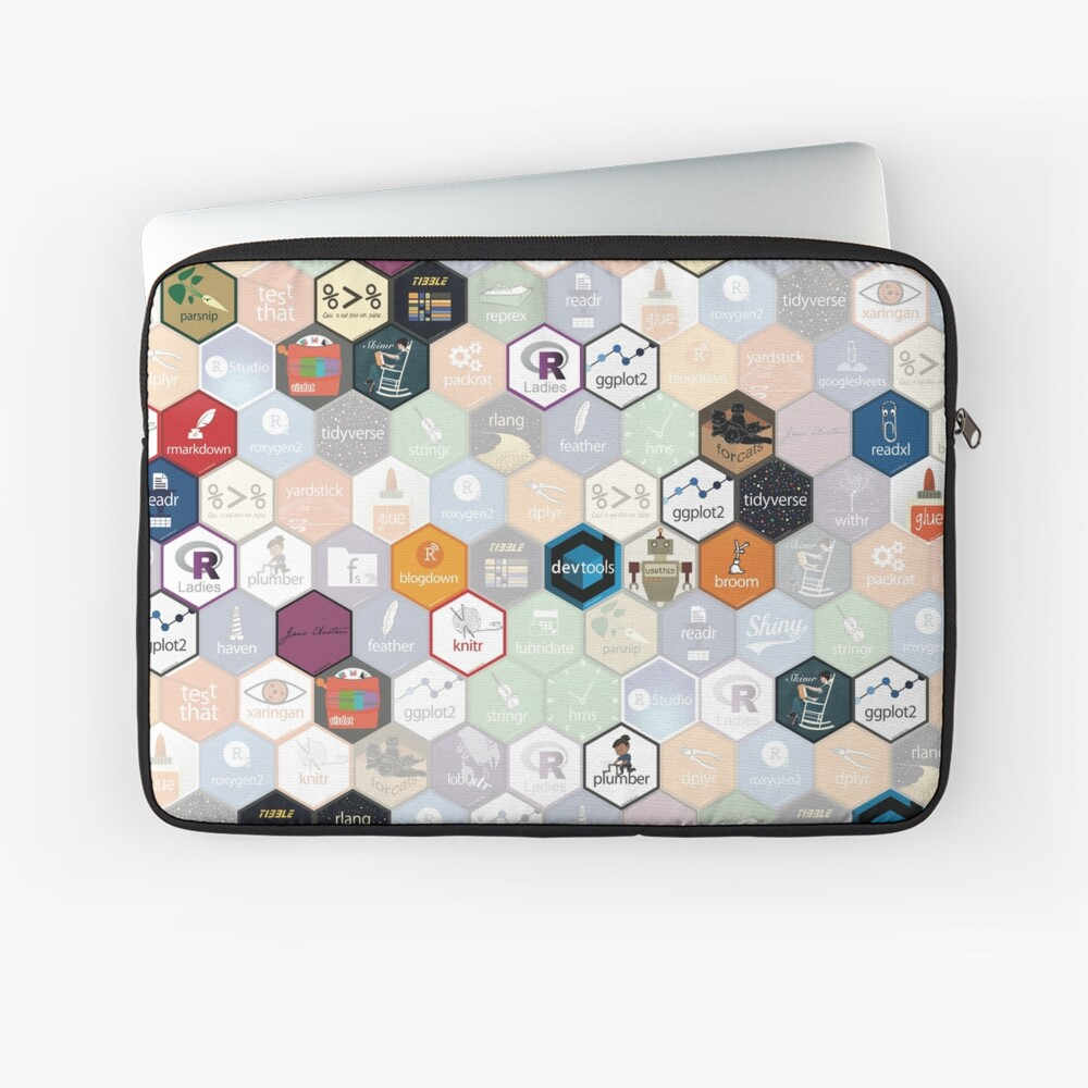 R hex fabric (small hexes) Laptop Sleeve
